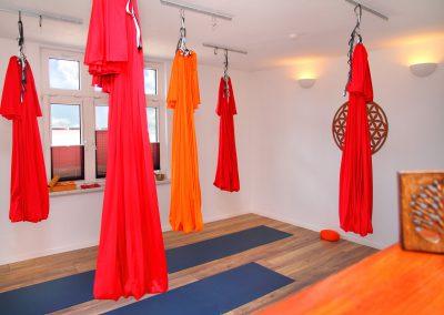 der Raum für Yoga und Aerial Yoga